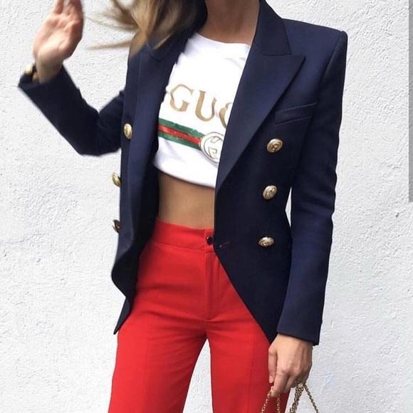2a977c8c Jackets & Coats | Double Breasted Balmain Inspired Blazer | Poshmark